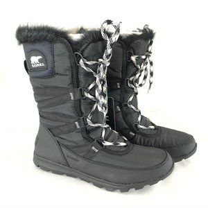 Sorel Womens Whitney Boots Waterproof Lace Up 7